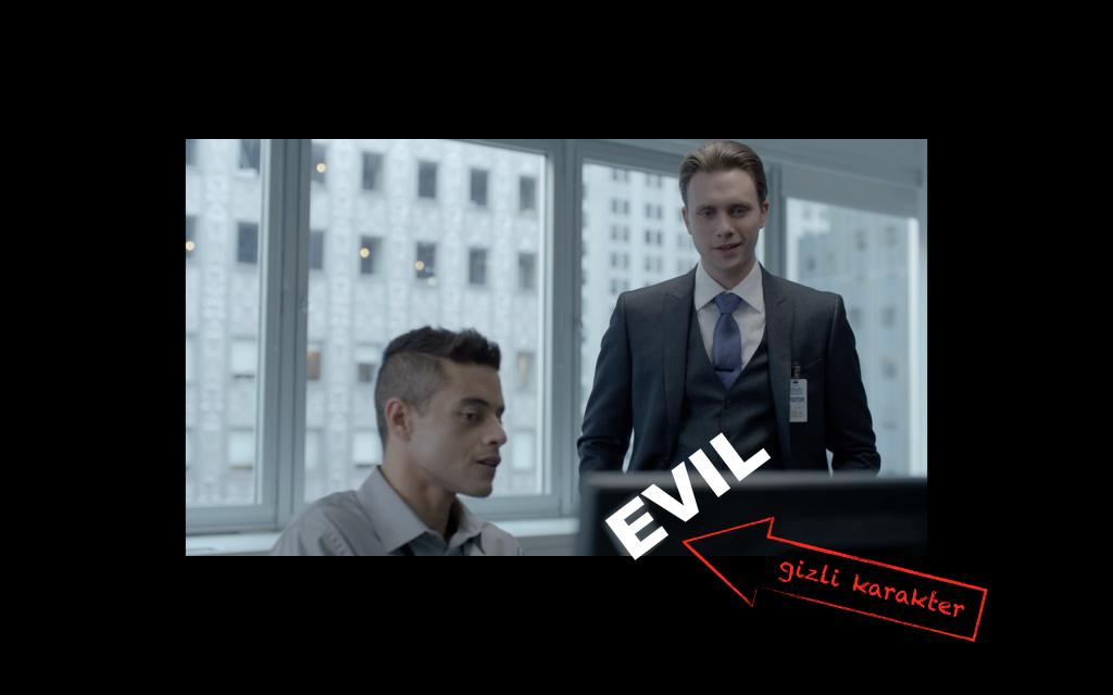 Mr.Robot'un bu planında gizli bir karakter var: Evil şirketinin logosu